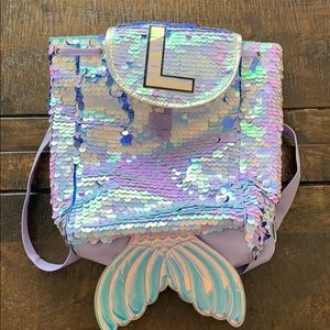 Sequin justice backpack L initial
